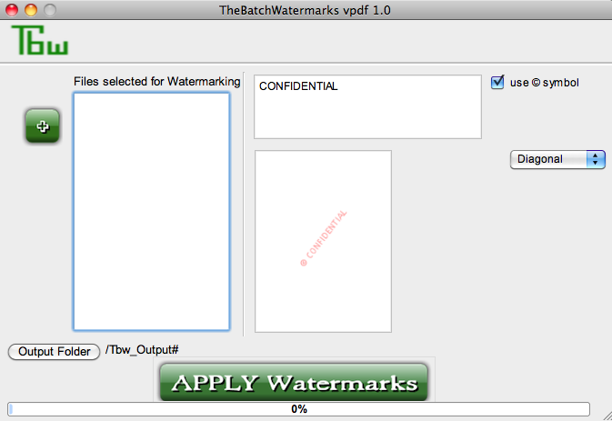 Tbw - PDF watermark mac full screenshot